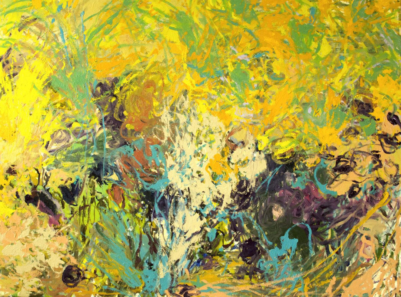 Floraison reine - Huile sur toile - 140 x 150 cm - Janvier 2019