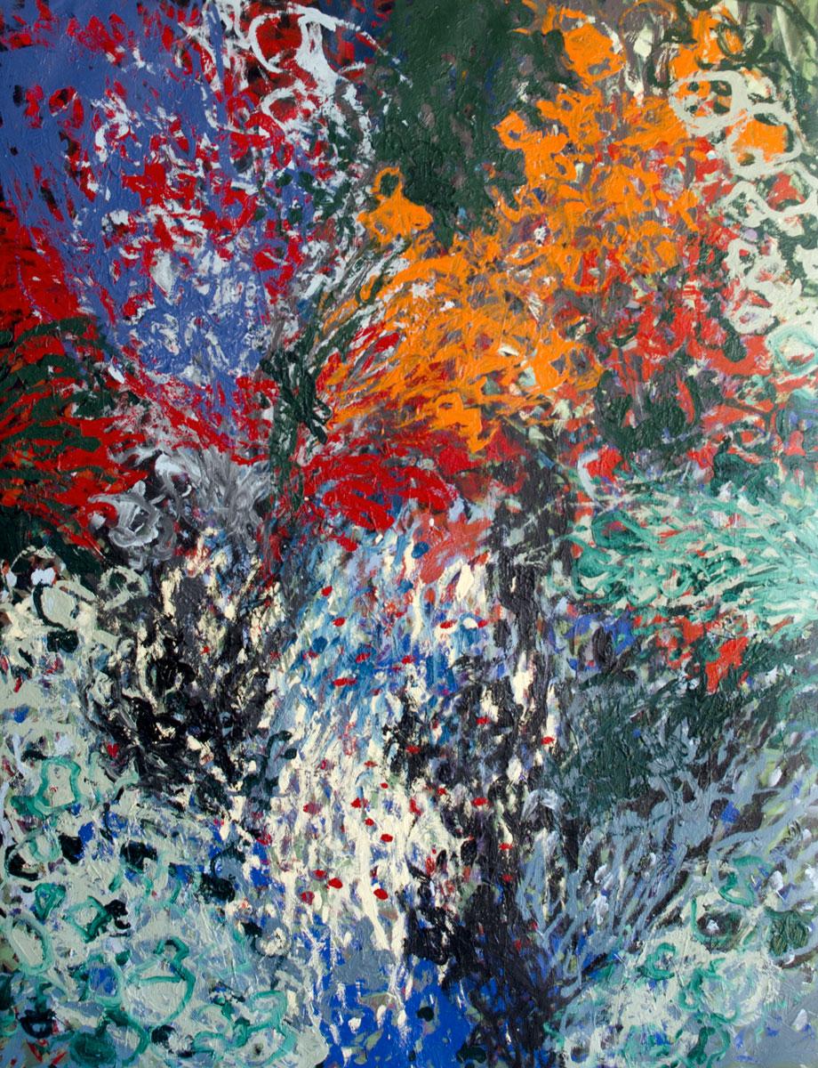 Floraison ancienne - Huile sur toile - 122 x 155 cm - Février 2019